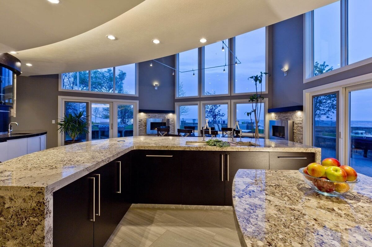 Kitchen w/ Lake View